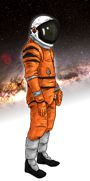 It came from outer space, then bought a space suit and went back.